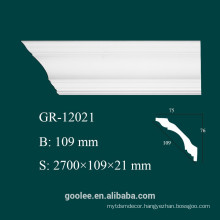 High Density Waterproof Classic Decorative Castable PU Plain Cornice Mouldings