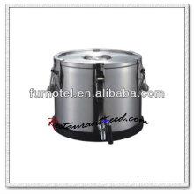 K592 Tabletop Edelstahl Tee Übertragung und Erwärmung Barrel