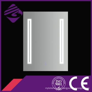 Jnh 138 Best Selling Rectangle más nuevo espejo de tocador de baño con luces