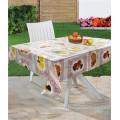 137 Cm Cor completa transparente impressa PVC da toalha de mesa do PVC no rolo