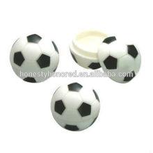 2015 quente-venda de plástico reciclado forma de futebol bálsamo para os lábios tubo / bola forma bálsamo labial caso