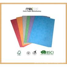 Papel de couro embutido de tamanho A4 210GSM para capa de livro de encadernação