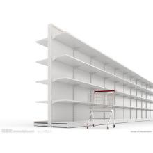 Présentoir métallique de supermarché