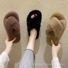 Superstarer Colorful Outdoor Women′s Faux Fur Furry Slippers House Unisex EVA Fur Fuzzy Slipper Sandals for Ladies