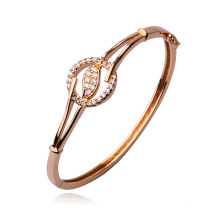 50321 Hot-Sales Ancient Royal Rose Gold-Plated Imitación CZ Brazalete de la joyería