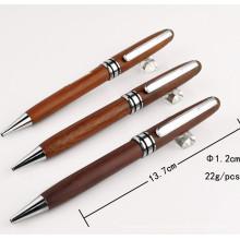 Стильный природы деревянная Шариковая ручка с металлическим зажимом ТС-Q008