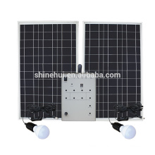 5-100W home solar lighting system with solar panel mobile charger LED lamp