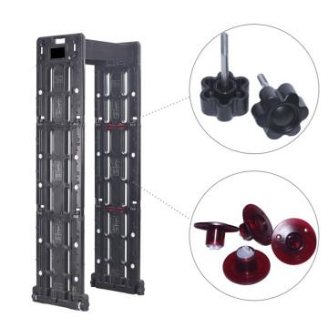 Inspeção móvel de alta sensibilidade ao ar livre, Controle Remoto, Detector de Metal Archway