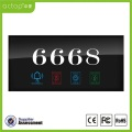 Tempered Glass Panel Hotel Electronic Number Doorplate