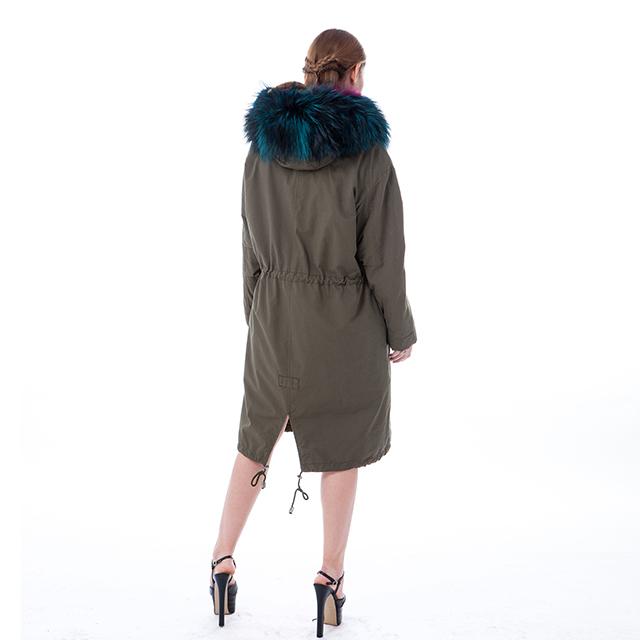 Fashion fur cashmere winter coat