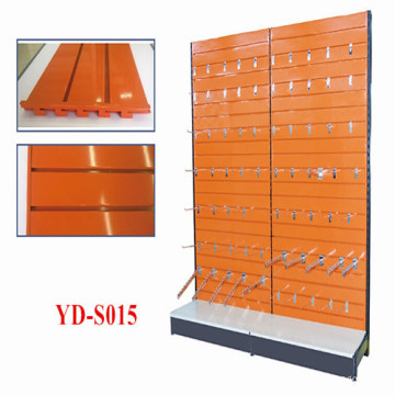Island Wall Supermarket Gondola Slatwall Shelf Units