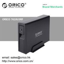 ORICO 7618U3RF 3.5 '' 6tb Aluminium sans fil avec boîtier de verrouillage hdd