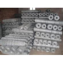Malha de arame hexagonal revestida de PVC e galvanizado
