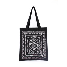 Bohemia Printing Style Eco-Friendly Custom Reusable Handbags Grocery Shopping Tote Bag with Custom Logo