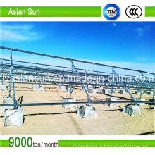 Halterung der Solarmodule