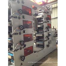 Máquina de impressão flexográfica com 8 cores