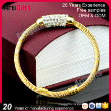 Eco-Friendly metal material bling bracelet and bangle