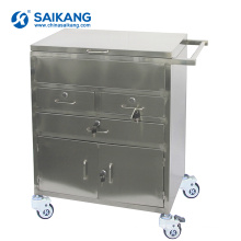 SKH021 Stainless Steel Simple Metal Treatment Medical Trolley