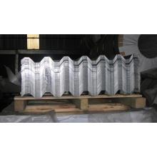 Plaque colorée en aluminium ondulé pour la construction