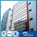 8mm 10mm textured Clear colored Tempered Glass for building