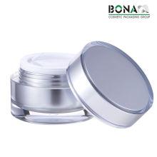Tarro cosmético plástico del tarro de acrílico claro del tarro de la calidad 60g Jar