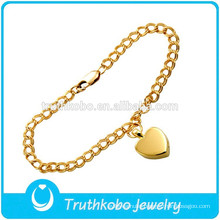 L-B0217 18K Golden High Polsih 316L Stainless Steel Chain Urns Cremation Bracelet Wholesale Cremation Ashes Heart Pendant Charm