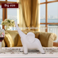 Traditional Resin Elephant Ornament with Instrument for Vintage Home Decoration