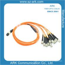Cable de fibra óptica para MPO / PC / Male) Om1 12 Core