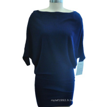 Sexy Batwing Sleeve Package Robe en tricot à manches courtes