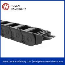 Flexible enclosed black enclosed cable drag chain