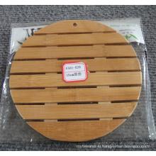 (BC-M1016) Handmade Natural Bamboo Round Heat Insulation Mat