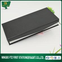 Clásico de terciopelo negro de lujo de embalaje de la pluma