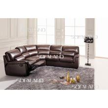 Современная кожаная мебель Угловой диван-кровать (657)