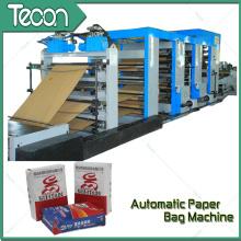 Bolsa de papel de impresión Flexo totalmente automático que hace la máquina