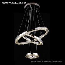 Luminária pendente de lustre de aço inoxidável