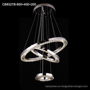 Lámpara colgante de araña de acero inoxidable
