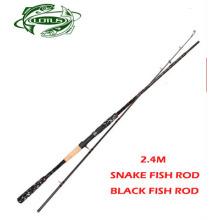 Über Hard Snake Fischstäbchen Black Fish Rod Lure Rod