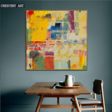 Yellow Abstract Canvas Print with Frame
