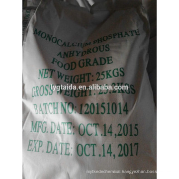 Monocalcium Phosphate Anhydrous in food industry used as leavening agent, dough agent