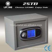 Combinaison électronique clé coffre-fort, coffre-fort, coffre-fort avec différentes tailles et couleurs
