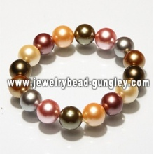 Fashion multicolor mother of pearl bracelet