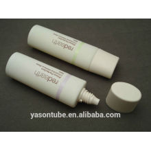 empty cosmetic containers of oval PE tube