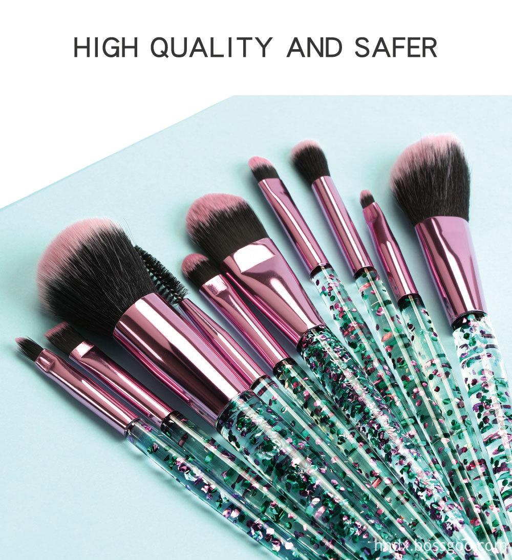 Crystal Rhinestone Makeup Brushes Set 2