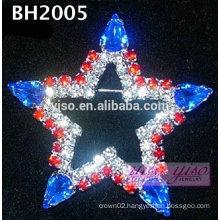 star rhinestone brooch pin