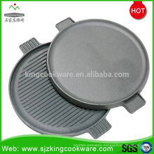 Round Barbecue Cast Iron Grill Sizzle Plate