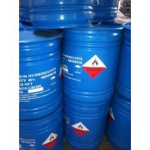Impresión y decapado de hidrosulfito de sodio usado.