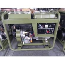 Gerador diesel monofásico de 5kw da CA para o uso do exército