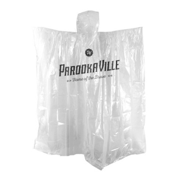 EN 13432 poncho hujan PLA biodegradable