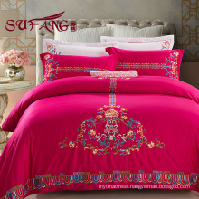 Luxury Comfortable Adult King Size100% Cotton Hotel bedding sets 60s fashion design luxury