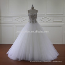 5852 perles à la robe de mariage